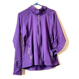 Athleta purple, reflective coat, xl, lined